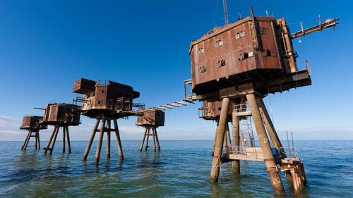 The Red Sands sea fort.