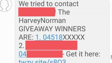 A text message said to be from Harvey Norman is just the latest scam.