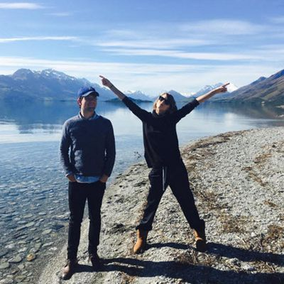 Before hitting Hamilton Island, Taylor went on a family road trip on New Zealand's South Island. Here she is with her brother Austin.