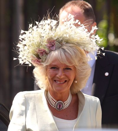 Camilla, Duchess of Cornwall at the wedding of Zara Phillips and Mike Tindall, 2011