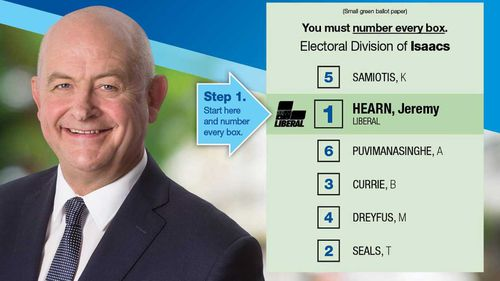 Jeremy Hearn has been dumped as the Liberal candidate for Isaacs.