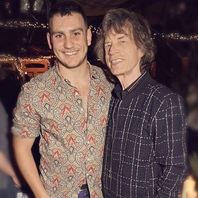 Mick Jagger and his son Gabriel.