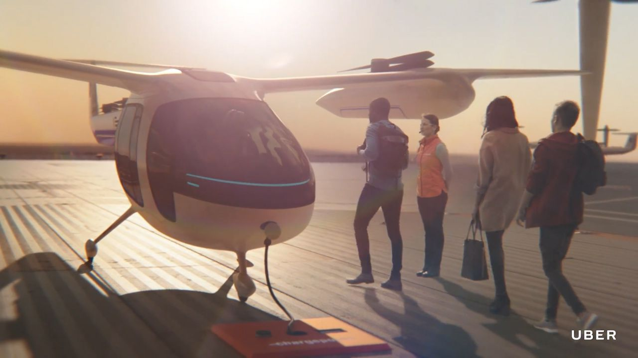 Uber details plans for flying car service from 2020