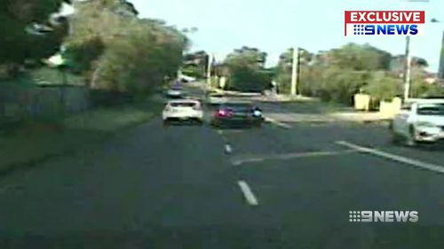 Dashcam showed Chandler's car driving at high speeds as he led police on a chase.