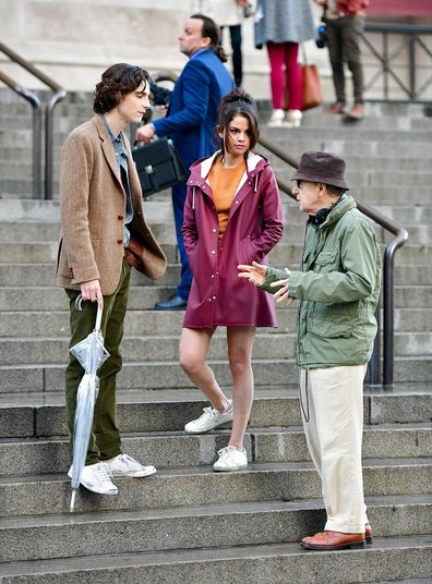 Timothée Chalamet, Selena Gomez and Woody Allen