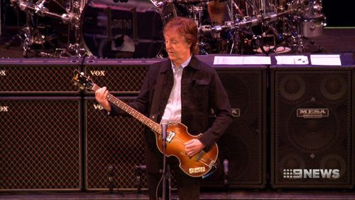 "McCartney is kicking off the Australian leg of his ""One On One"" tour in Perth. (9NEWS)"