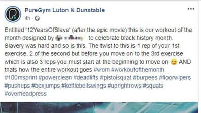 PureGym slammed for insensitive 'Black History Month' inspired workout routine