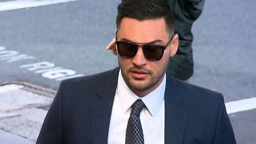 Salim Mehajer outside court today. (Nine News)