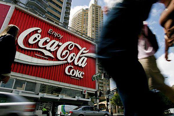 Coca Cola sign in Kings Cross