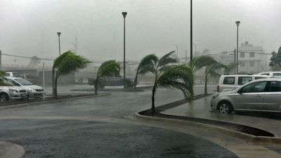 <p>Winds hit a street in Manzanillo, Colimo state. </p><p>The hurricane became the strongest ever recorded when it reached wind speeds of 325km/h, but it has since been downgraded. </p><p>(AFP)</p>