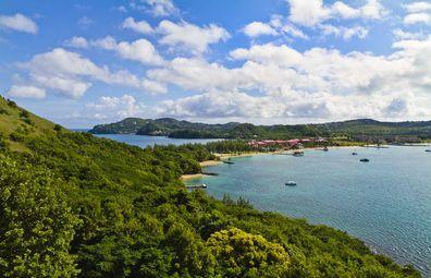 Rodney Bay, Sainte-Lucie.