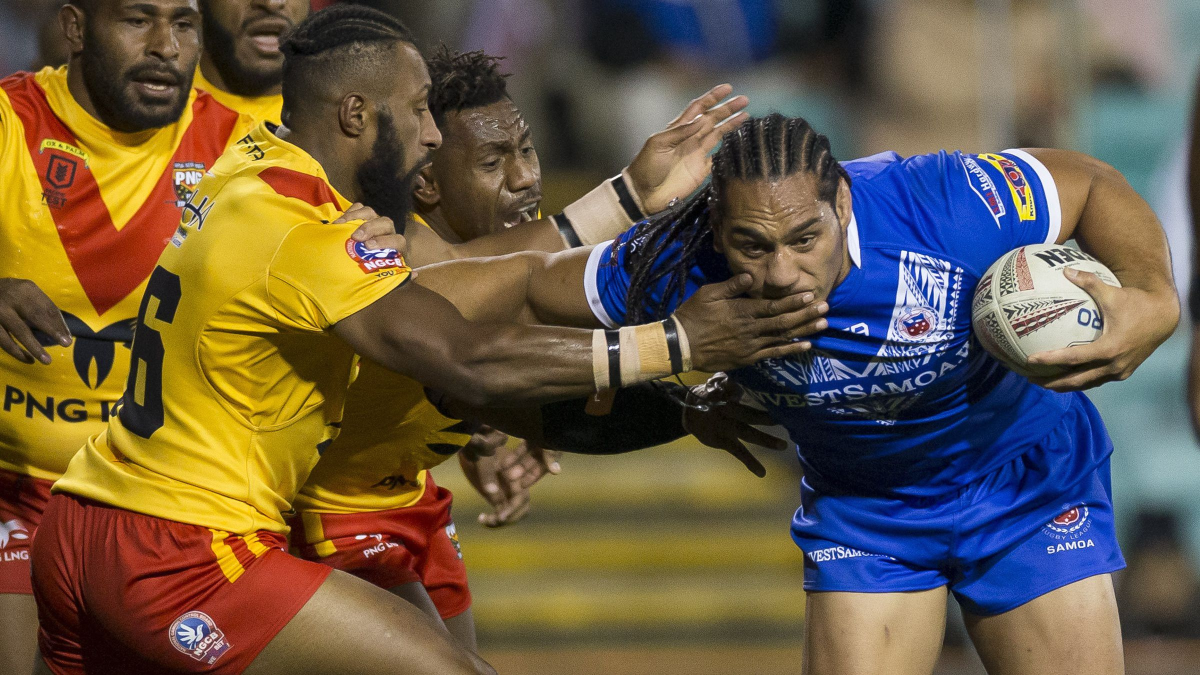 Samoan 'prodigy' scores 'unusual' try to seal win against PNG