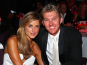 Cricketer Brett Lee with wife