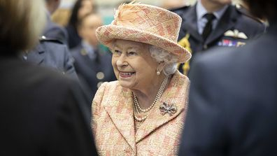 Queen Elizabeth II during a visit to Royal Air Force Marham, Norfolk.
