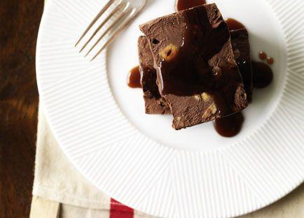 Chocolate, fig and hazelnut semifreddo
