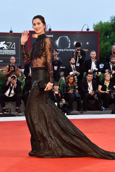 <p>Gloria Bellicchi&nbsp;at the 2017 Venice Film Festival</p> <p>&nbsp;</p>