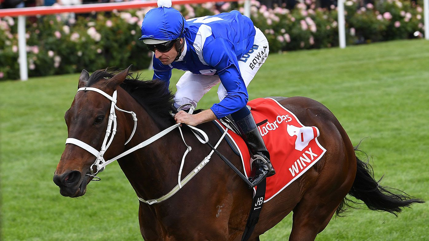 Winx has won a record fourth Cox Plate
