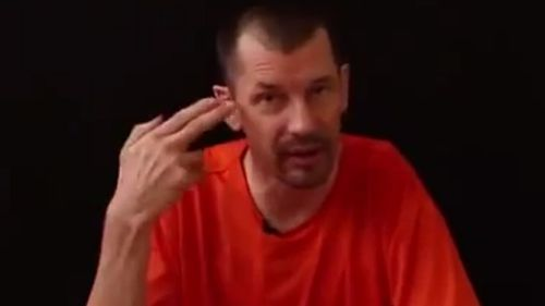 """""""I know what you're thinking"""": Mr Cantlie reads from a script in the video. (YouTube)"""