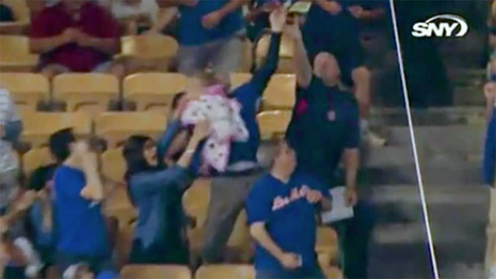 Baseball: Fan incurs wrath of mother after choosing ball over baby