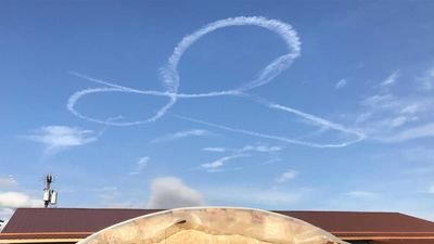 Navy air crew grounded for sky drawing