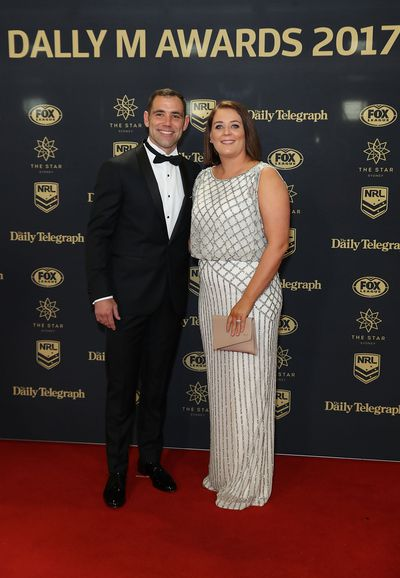 Cameron Smith of Melbourne Storm and wife Barbara