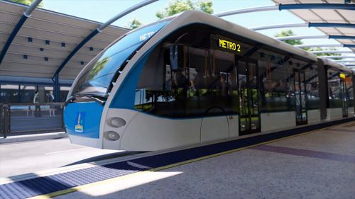 The $944m dollar project will bring 60 new busses to the city. Picture: 9NEWS