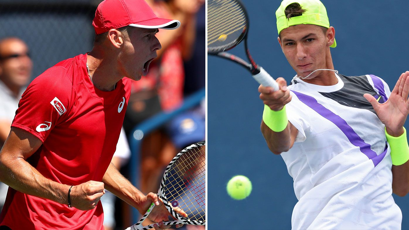 Aussies Alex de Minaur and Alexei Popyrin are into the third round of the US Open