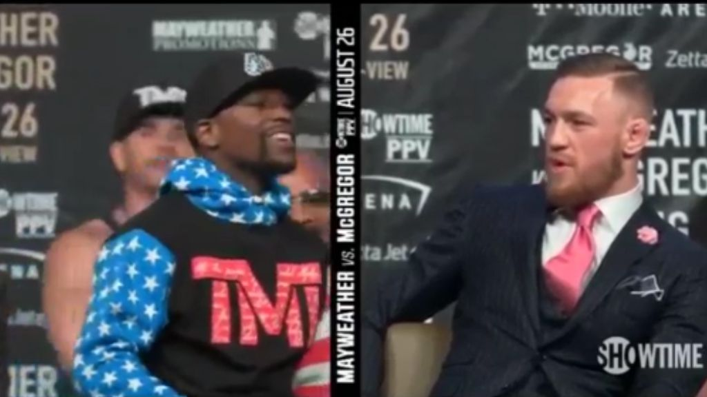 McGregor racially taunts Mayweather