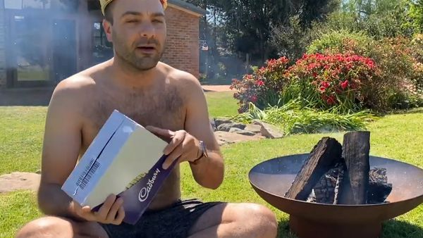 Influencer 'List King' trolls the internet by burning box of Caramilk chocolates