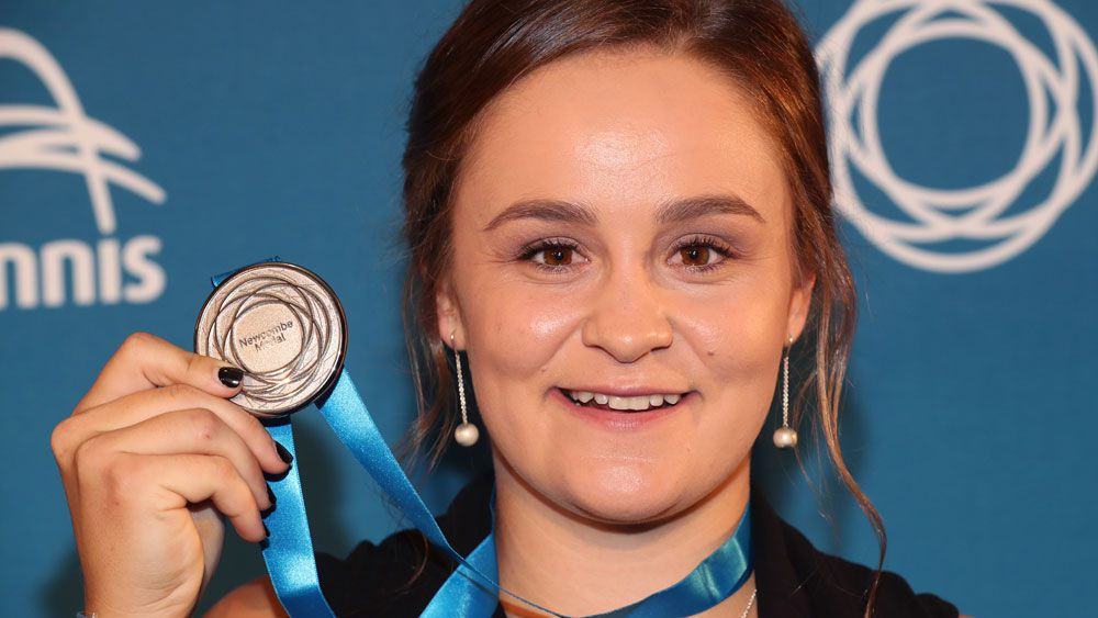 Ashleigh Barty's touching tribute to Casey Dellacqua after Newcombe Medal win
