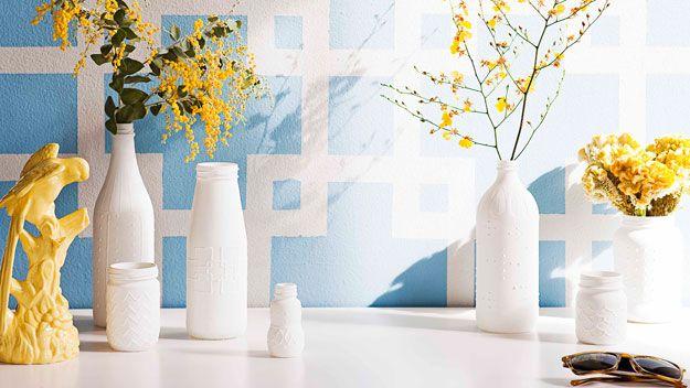Puff paint vases