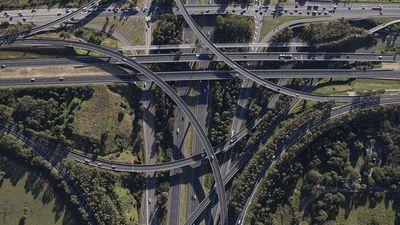 No traffic on busy interchange