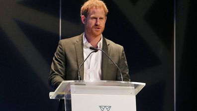 Prince Harry, Duke of Sussex speaks as he attends a sustainable tourism summit at the Edinburgh International Conference Centre on February 26, 2020 in Edinburgh, Scotland.