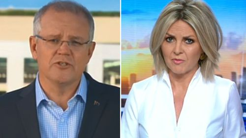 Georgie Gardner pushed the prime minister to commit to a timeframe for re-locating children who had lived on the island for up to five years.