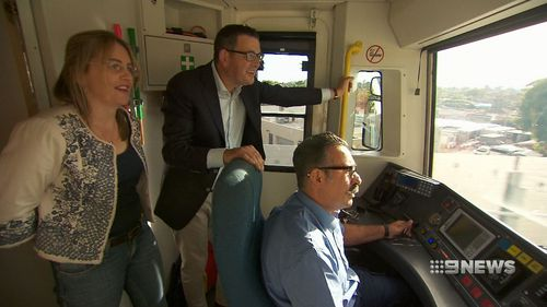 Daniel Andrews gets a first look at the project. (9NEWS)