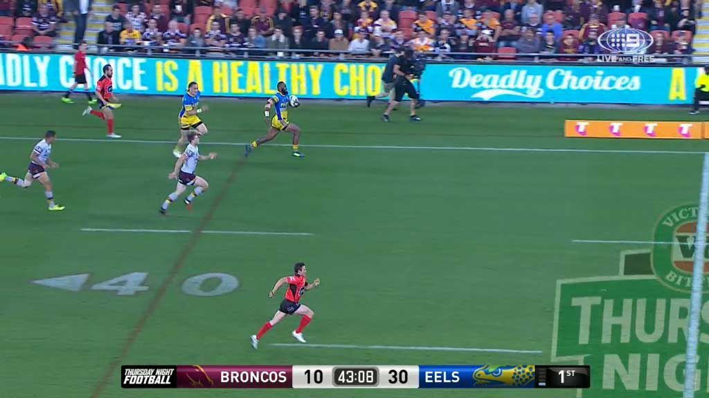 Radradra scores fourth try