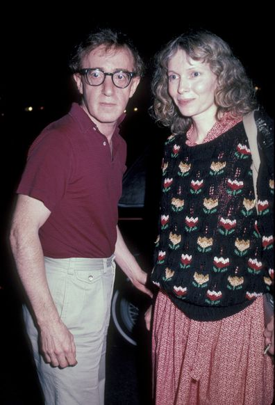 Actor/director Woody Allen and Mia Farrow.