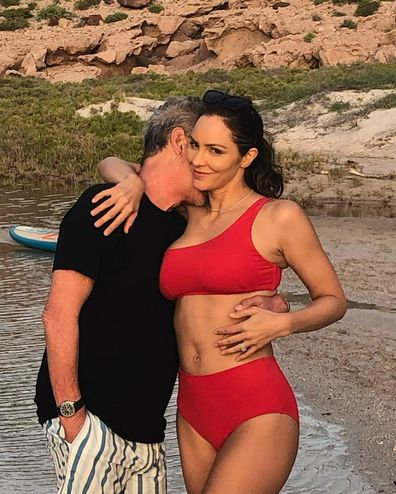 Katharine McPhee and husband David Foster.