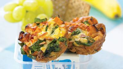 "Recipe:&nbsp;<a href=""http://kitchen.nine.com.au/2016/05/13/11/27/vegetable-frittata-cups"" target=""_top"">Vegetable frittata cups</a>"