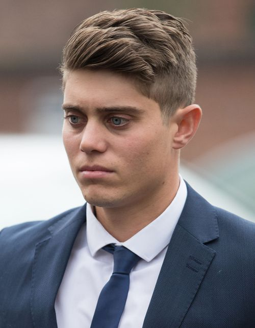 Prosecutors allege Hepburn, 23, raped the woman at a flat he shared with teammate Joe Clarke.