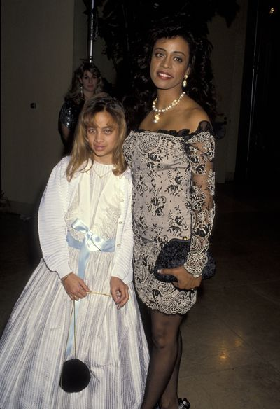 Nicole Richie and mum Brenda Harvey Richie at the AFI Life Achievement Awards  in Beverly Hills, 1992