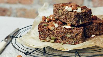 "<a href=""http://kitchen.nine.com.au/2016/11/06/22/16/jesinta-campbells-snack-seed-bars"" target=""_top"">Jesinta Campbell's snack seed bars</a><br /> <br /> <a href=""http://kitchen.nine.com.au/2016/11/10/12/03/how-to-choose-a-better-protein-bar"" target=""_top"">RELATED: How to choose a better protein bar</a><br /> <br />"