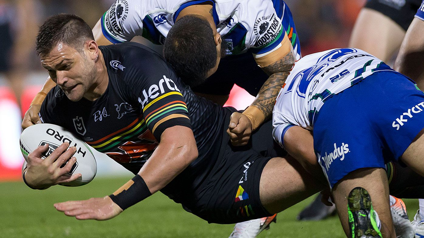 Panthers prop Tim Grant is tackled