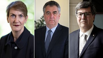 From left: Chief Justice of the Supreme Court of Victoria Justice Anne Ferguson, President of the Court of Appeal Justice Chris Maxwell and Justice Mark Weinberg.