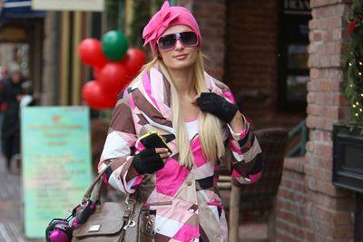 Paris Hilton spent the break in Aspen with her family.