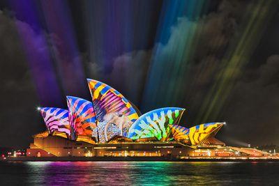 Sydney Harbour, Vivid, NSW