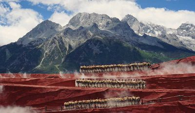 Dance at the foot of Yulong Mountain