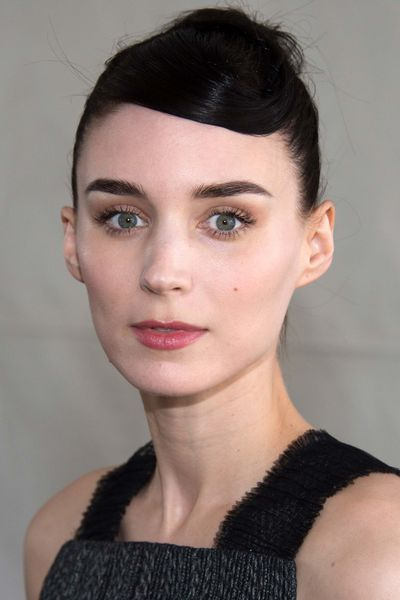 Want something a little more elaborate? Try twisting your fringe back for a 1920s effect as seen on Rooney Mara.