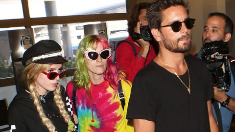 Bella Thorne, Scott Disick LAX.