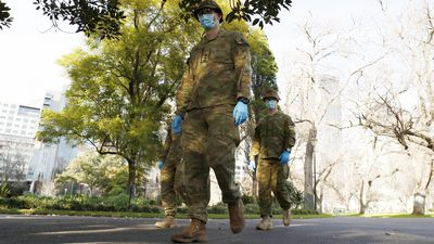 The ADF had a strong presence on Melbourne streets this morning